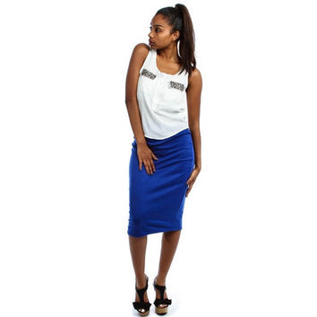 High-Waist Lyss Loo Pencil Skirt