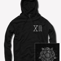 Flower Black Hooded Pullover : MerchNOW