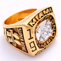 1984 Miami Dolphins Super Bowl Championship Ring 18 KT Gold Pld