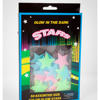 Glow-in-the-Dark Color Glow Stars 50 Pc