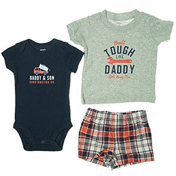 Carter's Baby Boys' 3 Piece Layette Set (Baby) - Tough Like Daddy - 3 Months