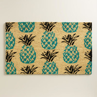 Blue Pineapple Doormat