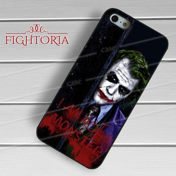 Joker Quote - z321z for iPhone 6S case, iPhone 5s case, iPhone 6 case, iPhone 4S, Samsung S6 Edge