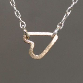 Michelle Chang Jewelry Tiny Sideways Heart Necklace