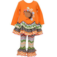 Bonnie Baby Newborn-24 Months Thanksgiving Turkey Mixed Media Dress & Legging Set | Dillards