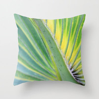 Tropical Pillow, Outdoor Patio Furniture, Weather Resistant Pillow, Green Palm