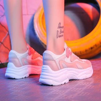 Women running Shoes 2018 Spring Autumn Mesh Women Shoes Zapatillas Mujer Lace-Up Women sport Shoes Breathable Women Sneakers