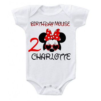 MINNIE MOUSE BIRTHDAY PERSONALIZED BIRTHDAY SHIRT