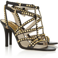 MICHAEL Michael Kors | Alexi studded leather sandals | NET-A-PORTER.COM
