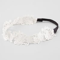Full Tilt Pretty Crochet Headband Ivory One Size For Women 25811216001