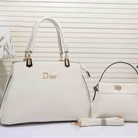 Dior Fashion Women's Leather Handbag Tote Satchel Shoulder Bag Two piece Set H-YJBD-2H Tagre™