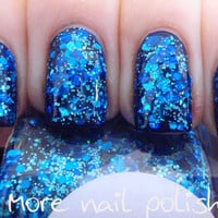 Beneath the Blue Hand made custom nail polish FOLLOW MEE