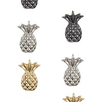 PINEAPPLE STUD SET OF THREE PAIR EARRING
