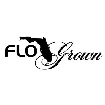 FloGrown Script Decal White