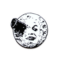 A Trip to the Moon classic movie enamel lapel pin