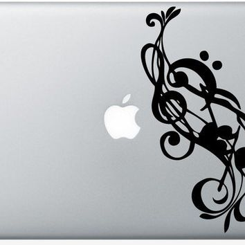 Music Notes laptop DECAL macbook PC computer Gadget by EyvalDecal