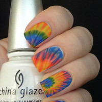 Full Tie Dye Hippy Nail Art Decals Nail Stickers