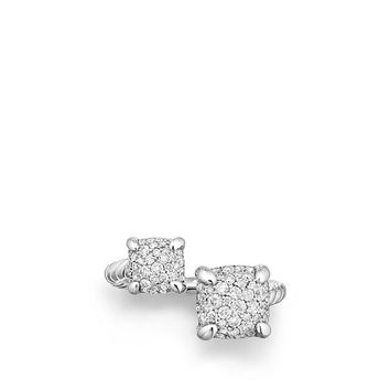 Chatelaine Bypass Ring with Diamonds
