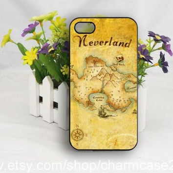 Neverland map iPhone 4s case,iphone 6 case,samsung galaxy s3/s4/s5 case,iphone 4/4s case,iphone 5/5s/5c case,Personalized