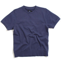 Stock Short Sleeve Crewneck Sweatshirt Indigo