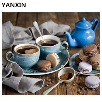 YANXIN DIY Frame Painting By Numbers Oil Paint Wall Art Pictures Decor For Home Decoration A008