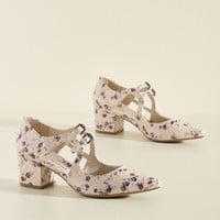 Fete as a Fiddle Heel in Blush | Mod Retro Vintage Heels | ModCloth.com