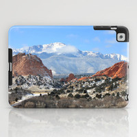 Snow at the Garden of the Gods, Colorado Springs iPad Case by Trinity Bennett