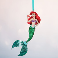 Disney Store 2016 Ariel with Sebastian Sketchbook Christmas Ornament New Tags