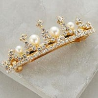 Sylphide Pearl Barrette by Anthropologie Gold One Size Hair