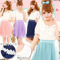 Rakuten: [a collar scallop shell point ♪ chiffon one piece  ] P]It has been had ◆- Shopping Japanese products from Japan