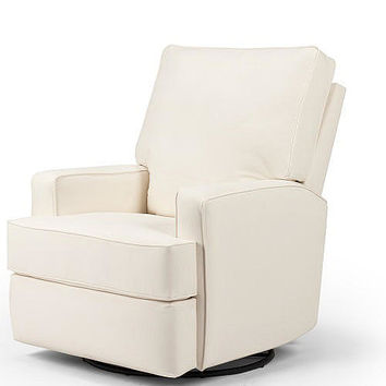 Best Chairs Kersey Upholstered Swivel Glider Recliner - Chalk