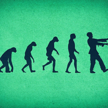 'Evolution of Zombies (Zombie Walking Dead)' by badbugs