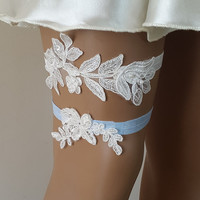 toss garters, ivory, blue,   lace,    wedding garters,    bridal accessores,   garter suspander,    free shipping!