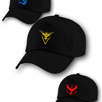 Free Pokemon Go Team Cap, Valor Team, Mystic Team, Team Instinct, Team Pokeball, nerd, Black Tee shirt, Pokemon T-shirt, One Day Deal.
