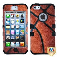 MYBAT IPHONE5HPCTUFFIM010NP Premium TUFF Case for iPhone 5 - 1 Pack - Retail Packaging - Basketball/Black