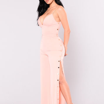 Hot Love And Emotion Jumpsuit - Blush