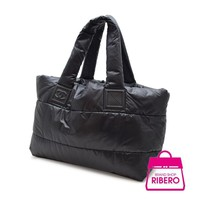 Auth CHANEL A 47107 Coco Cocoon Women Nylonxleather tote bag