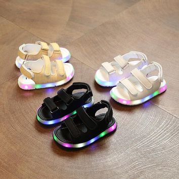 baby sandals Led Summer New Boys And Girls Sandals Baby Shoes Led Light Anti-slip Sandals For Toddler Girls Children Footwear
