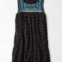 AEO Women's Embroidered Shift Dress (Black)