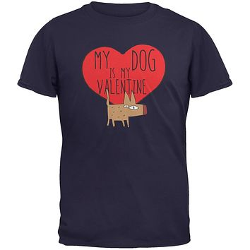 Valentine's Day - My Dog Is My Valentine Navy Youth T-Shirt