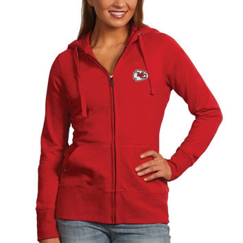 Women's Kansas City Chiefs Antigua Red Signature Full Zip Hoodie
