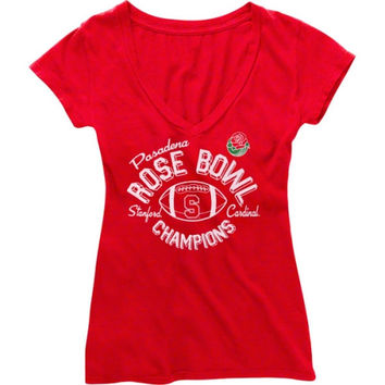Stanford Cardinal Ladies 2013 Rose Bowl Champions T-Shirt - Cardinal - http://www.shareasale.com/m-pr.cfm?merchantID=7124&userID=1042934&productID=555878589 / Stanford Cardinal