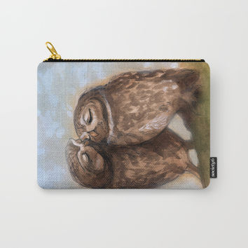 Owls in Love Carry-All Pouch by Christina Siravo