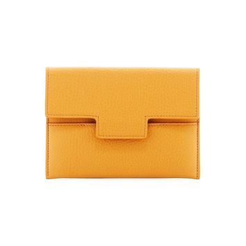 Smooth Tan Yellow Passport Holder by Tom Ford