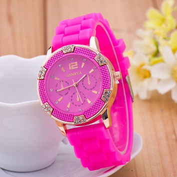 New Arrival Gift Awesome Trendy Designer's Good Price Great Deal Silicone Stylish Watch [6049416257]