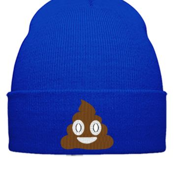 emoji shit embroidery hat - Beanie Cuffed Knit Cap