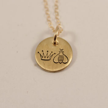 Queen bee - NuGold / Brass and Gold Filled Necklace