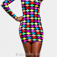 Bright Checkered Sexy Club Dresses by Rue 107 at eDressMe