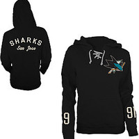 Old Time Hockey San Jose Sharks Women's Queensboro Lace Hooded Sweatshirt