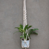Macrame plant hanger Boho plant pot holder